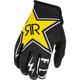 Black/White/Yellow Rockstar Lite Gloves