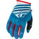 Blue/White/Red Kinetic K220 Gloves
