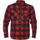 Black/Red Dropout Armored Flannel Shirt