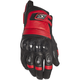 Black/Red Exile Leather Gloves