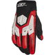 Red/Black/White Insurgent Leather Gloves