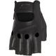 Black Half Nelson Fingerless Leather Gloves