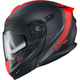 Matte Black/Neon Red EXO-GT920 Unit Modular Helmet