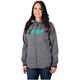Women Grey Heather/Mint Evo Long Softshell Jacket