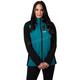 Women's Black/Teal Pulse Softshell Jacket