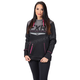 Women's Black/Electric Pink Helium Tech Pullover Hoody