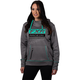 Women's Grey Heather/Mint Race Division Tech Pullover Hoody