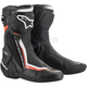 Black/White/Red SMX Plus Non-Vented Boots