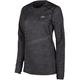Women's Black Heather Solstice 2.0 Base Layer Shirt