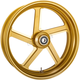 Rear Gold-Ops Pro-Am One-Piece Aluminum Wheel for Single Disc w/o ABS - 12697814RPROSMG