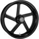 Rear Black-Ops Pro-Am One-Piece Aluminum Wheel for Single Disc w/ABS - 12707814RPROSMB