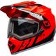 Flo Orange/Black MX-9 Adventure Mips Snow Helmet w/Electric Shield