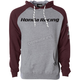 Gray/Burgundy Honda Racing Hoody
