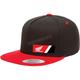 Black/Red Honda Wedge Snapback Hat - 23-86300