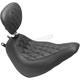Black Wide Tripper Diamond Stitch Seat w/Drivers Backrest - 83046
