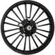 Front Black 21 x 3.5 Non-ABS Atlantic 3D Wheel - 3D-ATL213SB