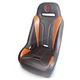 Black/Deep Orange Double T Stitch Extreme Seat  - EXBUDODTC