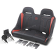 Black/Deep Orange  Double T Stitch Extreme Front and Rear Bench Seat - EXBEDODTC