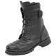 Women's Black Lady Combat Leather Boots