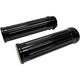 Black Grooved Billet Grips - 500560B