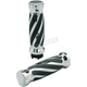 Chrome Twisted-Style Custom Rubber Grips  - 490011