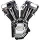 Black/Chrome T143 Long Black Engine - 310-0737A