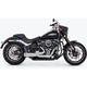 Chrome 2-Into-1 Combat Shorty Exhaust - HD00813