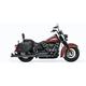 Black 36 in. Sharktail True-Duals Exhaust System - HD00770