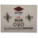 Polished Stainless Socket Cap Motor Mount Bolt Kit - DE5471SCHP