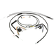 Black Vinyl Handlebar Cable and Brake Line Kits for Jail Bars w/o ABS