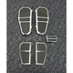 Chrome Tombstone Floorboard Kit - GMA-FB-100CK