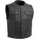Black Lowside Leather Vest