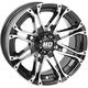 Machined Gloss Black Front HD3 Wheel - 12HD301