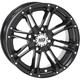 Solid Gloss Black Front HD3 Wheel - 12HD313