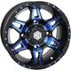 Blue Rear Radiant HD7 Wheel - 14HD703-BLU