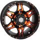 Orange Front Radiant HD7 Wheel - 14HD703-ORG