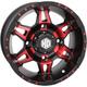 Red Rear Radiant HD7 Wheel - 14HD707-RED
