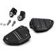 Black Twin Rail Footrests w/Driver Adapters - 68425