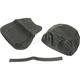 Black Carbon Gray Stitch Seat Cover - SB-H022