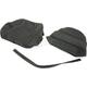 Black Carbon Gray Stitch Seat Cover - SB-H04