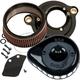 Black Mini Teardrop Stealth Air Cleaner Kit - 170-0436B