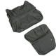 Black Carbon Gray Stitch Seat Cover - SB-K013