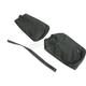 Black Carbon Gray Stitch Seat Cover - SB-K021