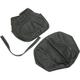 Black Carbon Gray Stitch Seat Cover - SB-S04