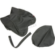 Black Carbon Gray Stitch Seat Cover - SB-Y012
