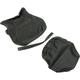 Black Carbon Gray Stitch Seat Cover - SB-Y013