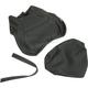 Black Carbon Gray Stitch Seat Cover - SB-Y02