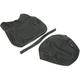 Black Carbon Gray Stitch Seat Cover - SB-Y022