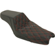 Red Tuck N Roll Step Up Seat w/Rear Lattice Stitch - 807-11-172RD