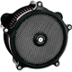 Black Super Gas Air Cleaner and Universal Faceplate Kit - 0206-2139-B